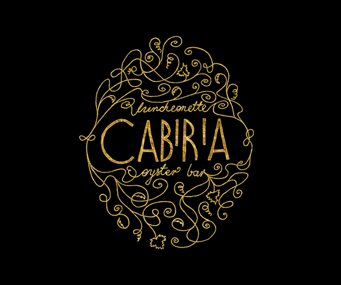 Cabiria logo in gold leaf