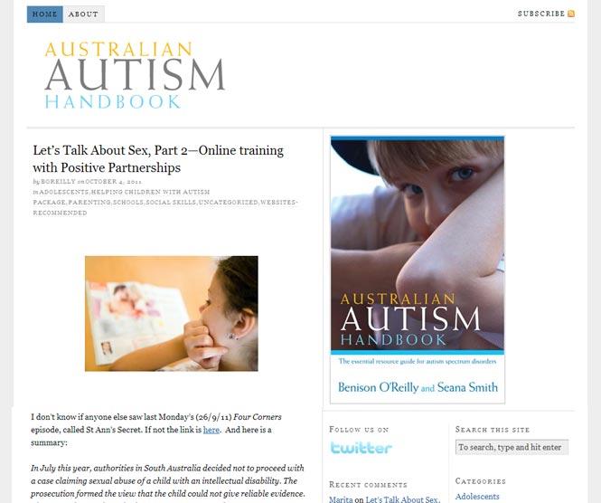 australian autism handbook website
